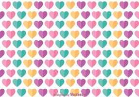 Plat love girly pattern vector
