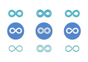 Infinite Loop Vector Pack Icône plate