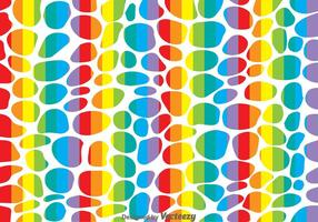 Vector de patrón de leopardo de arco iris