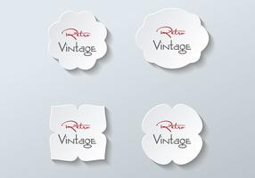 Gratis Paper Labels Vector