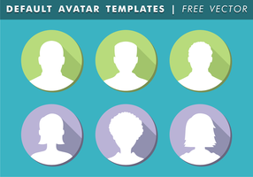 Default Avatar Templates Free Vector