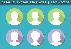 Modelli predefiniti di avatar vettoriali gratis