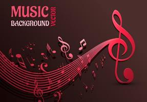 Beautiful Music Notes Vector Background