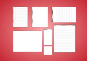 Gratis notitie papier vector