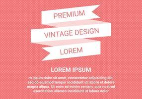 Vecteur de conception vintage gratuit