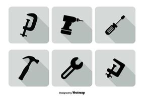 Assortiment tools icon set
