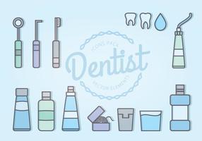 Ícones do dentista do vetor