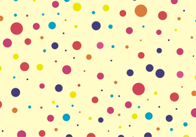 Cute & Colorful Dots Pattern Free Vector