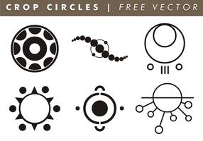Beskära cirklar fri vektor