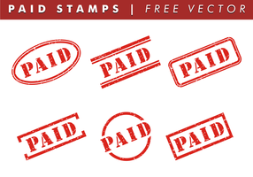 Paid Stamps Free Vector
