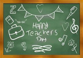 Vector de agradecimiento de los profesores