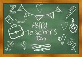 Dank je lerarenvector