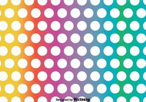 Rainbow Polka Dot Pattern Vector