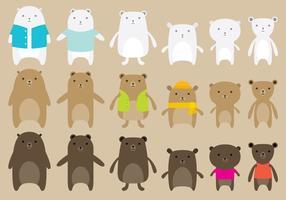 Vectores lindos del oso