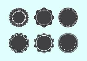 Assorted Badge Shape Set vector