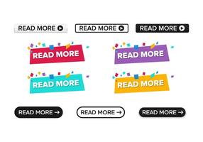 Pack Of Read More Button Vector Icon