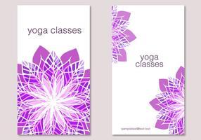 Purple Flowers Invitation Vector