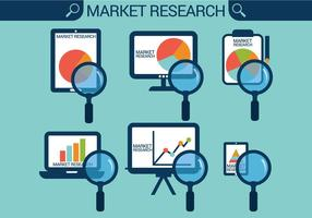 Vetores de pesquisa de mercado