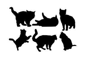 Vector de silhueta de gato grátis