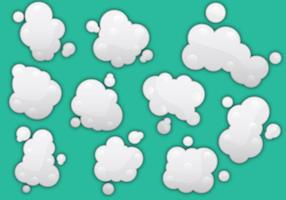 Vecteurs de poussière de nuage