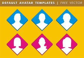 Standard Avatar Mallar Gratis Vector