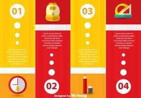 Infographie scolaire Vector