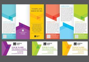 Chevron Fold Brochure Vectors
