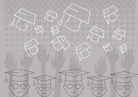 Graduación Vector Fondo