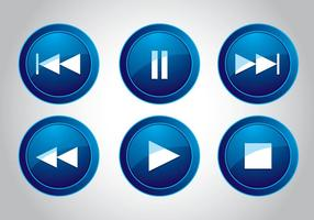 Média Button Icon Vectors