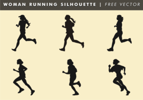 Woman Running Silhouette Free Vector