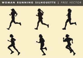 Mujer corriendo silueta vector libre