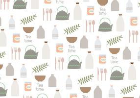 Vector Huishoudelijke Voorwerpen Patroon Achtergrond