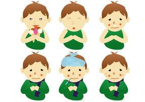 Kranke Kindervektoren