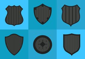 Vetores Shield Shapes