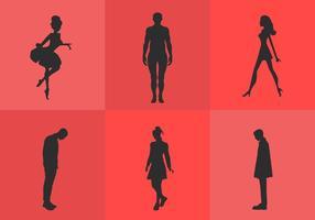 Man en vrouw silhouet vectoren