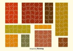 Vecteurs de fond de forme de puzzle