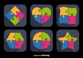Jigsaw Icon Shapes