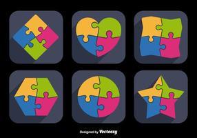 Puzzel pictogram vormen
