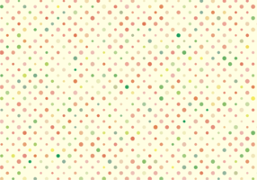 Cute Polka Dots Pattern Free Vector