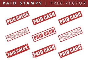 Betaalde Postzegels Gratis Vector