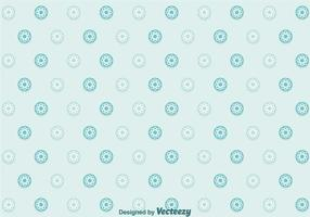 Flowers Dot Pattern Vector