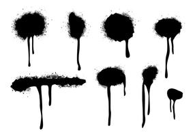 Spraypaint Drips Vectors
