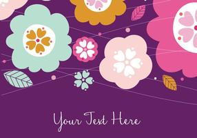 Floral Colorful Background Design
