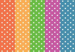 Vecteur de motifs colorés aux points