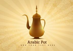 Vecteur de pot de café arabe