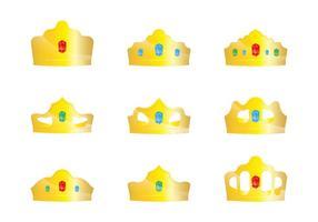 Vetores da coroa de ouro