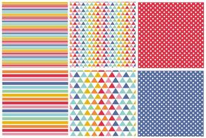 Colorful Pattern Set vector