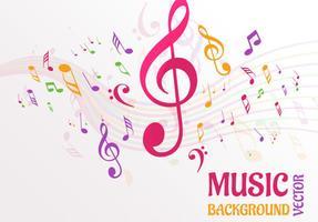 Abstracte muziek notities achtergrond vector