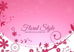 Fundo floral rosa do vetor