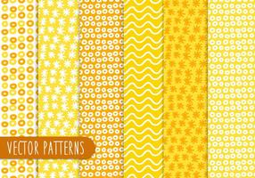 Yellow Abstract Patterns  vector